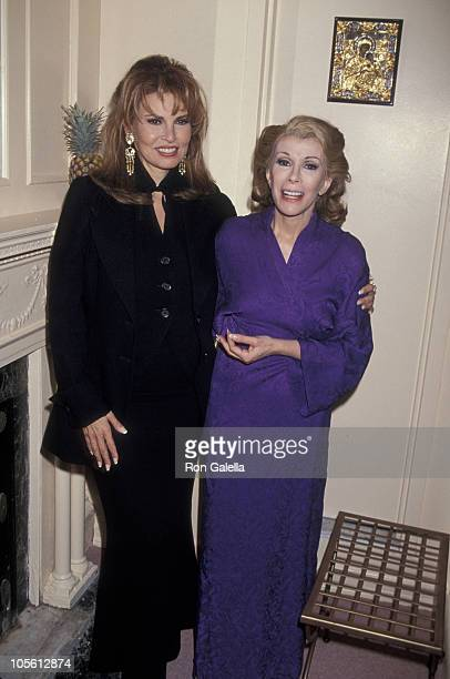 Raquel Welch and Joan Rivers during Preview of Sally Marrand Her Escorts at Helen Hayes Theater in New York City New York United States