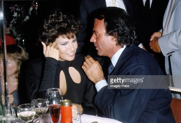 Raquel Welch and Julio Iglesias circa 1983 in New York