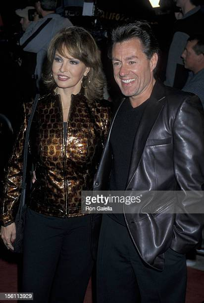 Raquel Welch and Richard Palmer during 'Bedazzled' Los Angeles Premiere at Mann's Village Theater in Westwood California United States