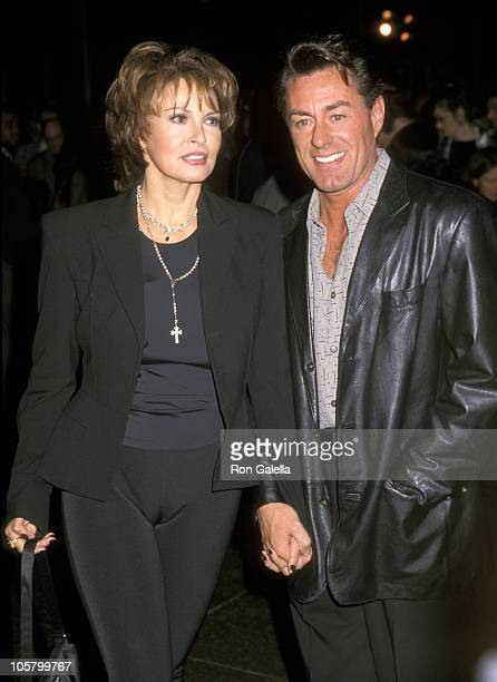 Raquel Welch and Richard Palmer during Gia Premiere at Director's Guild in Los Angeles California United States