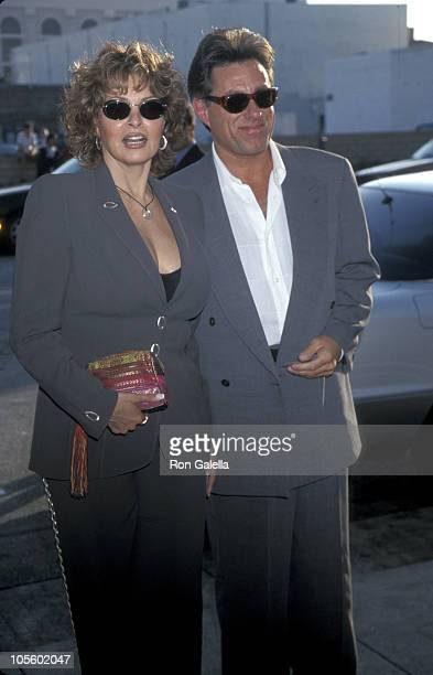 Raquel Welch and Richard Palmer during Pediatric AIDS Benefit at Pacific Palisades in Los Angeles, California, United States.
