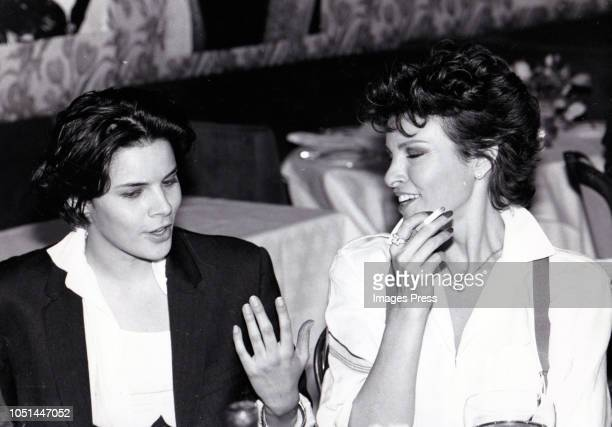 Raquel Welch and Sister Gayle Carole Tejada at Le Perigord circa 1984 in New York City