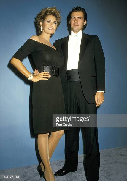 Raquel Welch and Son Damon Welch during 39th Annual Emmy Awards September 20 1987 at Pasadena Civic Auditorium in Pasadena California United States