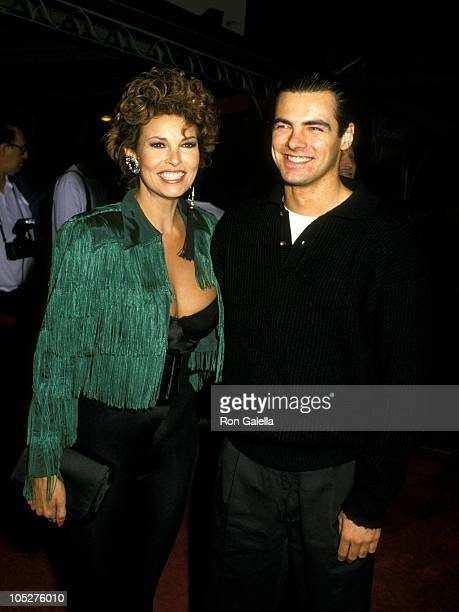 Raquel Welch and Son Damon Welch during Crocodile Dundee II Los Angeles Premiere at Mann's Chinese Theater in Hollywood California United States