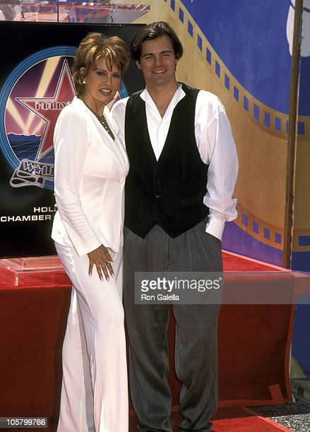 Raquel Welch and Son Damon Welch during Raquel Welch Receives Hollywood Walk of Fame Star at Hollywood Boulevard in Hollywood California United States