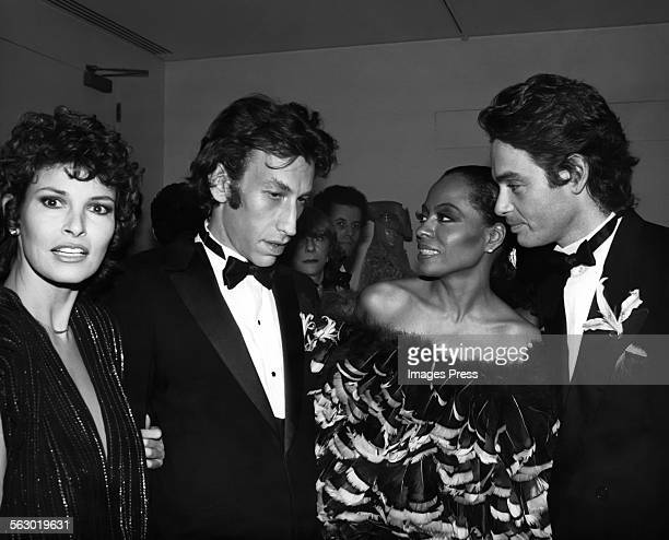 Raquel Welch Andre Weinfeld Diana Ross and Patrice Calmette circa 1981 in New York City