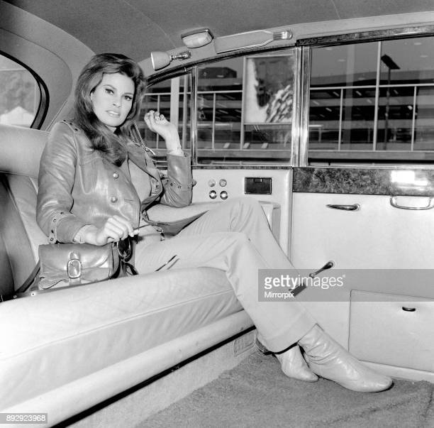 Raquel Welch arrived at Heathrow Airport London this morning Saturday 3rd June 1967 to play the part of 'Lust' in a new film called 'Bedazzled' 3rd...