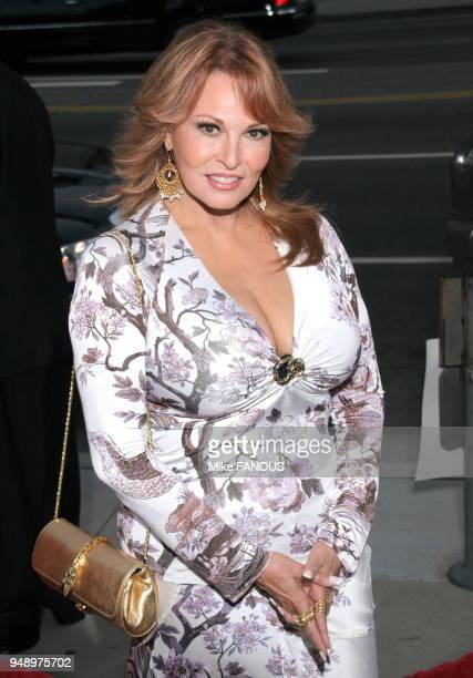 Raquel Welch at the premiere of 'Hollywoodland' at the Academy Theatre in Beverly Hills CA 3/4 eyecontact smile