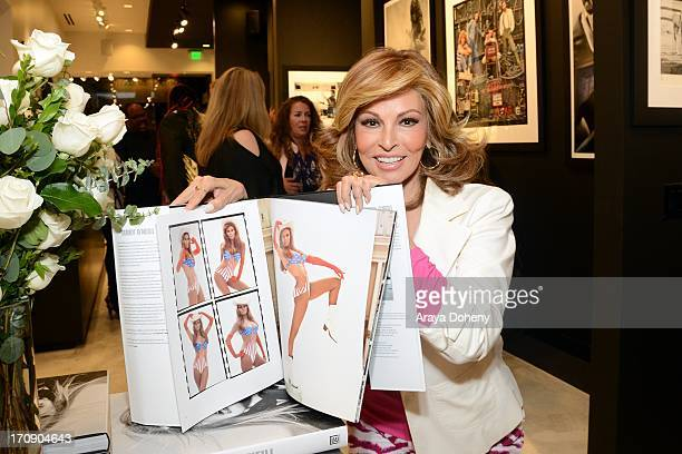 Raquel Welch attends a gallery exhibit of Terry O'Neill Presents The Opus A 50 Year Retrospective at Mouche Gallery on June 19 2013 in Beverly Hills...