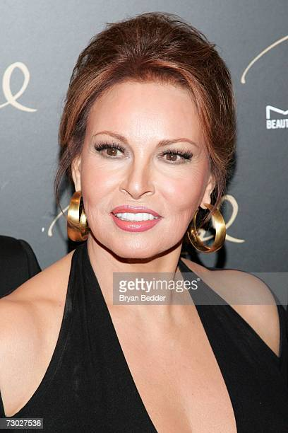Raquel Welch attends the MAC Cosmetics celebration to honor her as a Beauty Icon on January 17 2006 in New York City