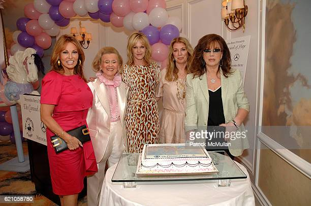 Raquel Welch, BarbaMelanie Griffithsriffithsithss, Joanna Poitier and Jackie Collins attend The Kickoff Luncheon for the Carousel of Hope at Beverly...