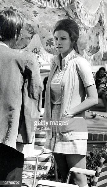 Raquel Welch during Filming Location of 'Flare Up' at SheratonUniversal Hotel in Universal City California United States