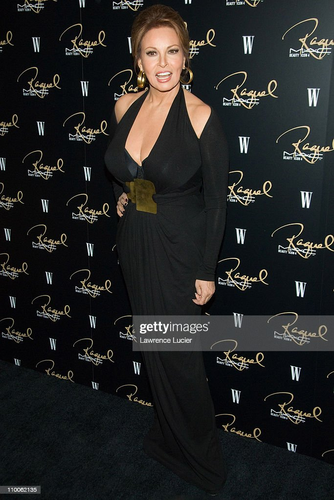 Raquel Welch during M.A.C Cosmetics Honored Raquel Welch as the New Beauty Icon - Arrivals at Gilt The New York Palace Hotel in New York City, New York, United States.