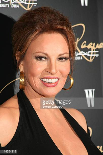 Raquel Welch during MAC Cosmetics Honored Raquel Welch as the New Beauty Icon Arrivals at Gilt The New York Palace Hotel in New York City New York...