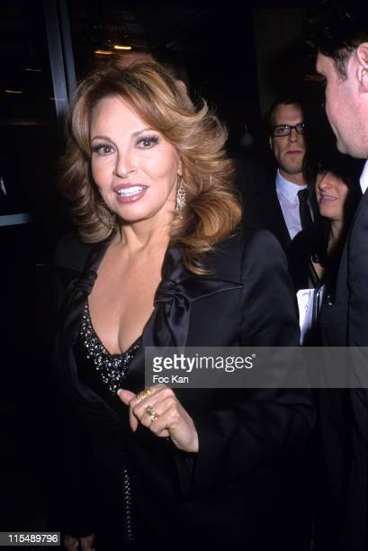 Raquel Welch during Sidaction 2007 Auction Dinner Against AIDS January 25 2007 at Pavillon D Armenonvillle in Paris France
