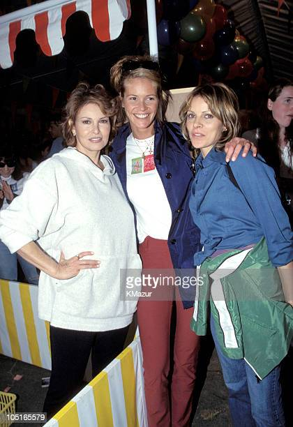 Raquel Welch Elle MacPherson and guest during Elizabeth Glasser Pediatric Aids Foundation in New York City New York United States