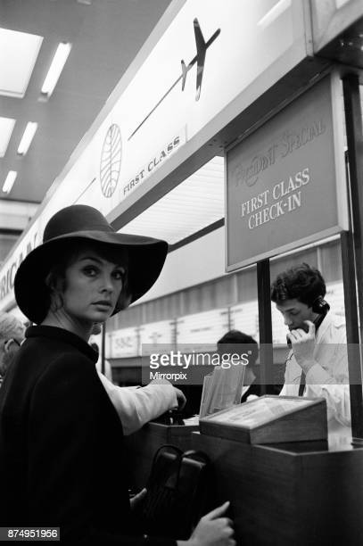 Raquel Welch pictured at London Heathrow Airport 3rd June 1967