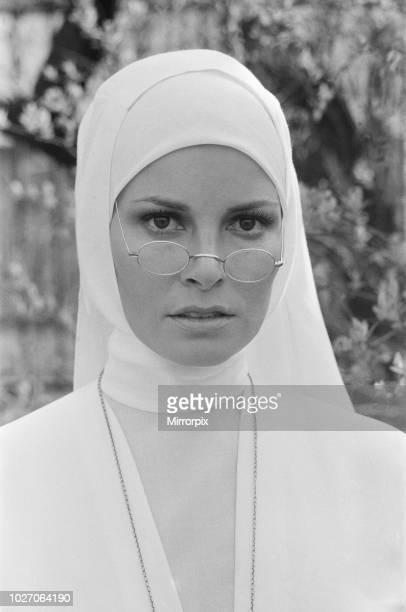 Raquel Welch pictured on set in Hungary filming her new movie 'Bluebeard' Ms Welch plays Sister Magdalena a novice nun The film also stars Richard...