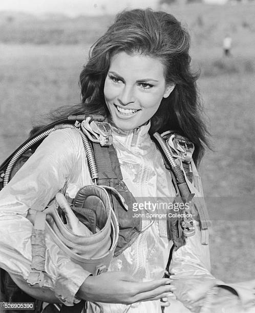 Raquel Welch plays the lead role of skydiver Fathom Harvill in the 1967 adventure Fathom
