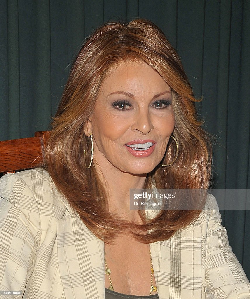 Raquel Welch signs copies of her book 'The Secrets of Timeless Appeal'at Vroman's Bookstore on April 22, 2010 in Pasadena, California.