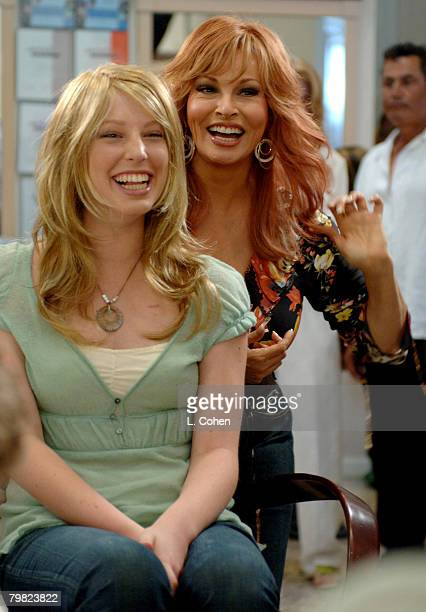 Raquel Welch with American Cancer Society participant. The Raquel Welch Signature Collection donated $1 million in wigs to the American Cancer...
