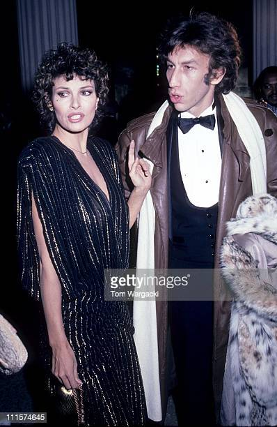 Raquel Welch with her husband Andre Weinfeld during Raquel Welch at the Metropolitan Museum in Manhattan - December 20, 1981 in New York City, United...