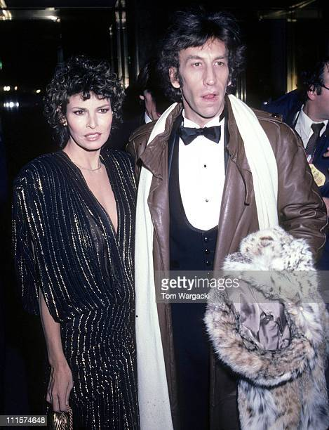 Raquel Welch with her husband Andre Weinfeld during Raquel Welch at the Metropolitan Museum in Manhattan December 20 1981 in New York City United...