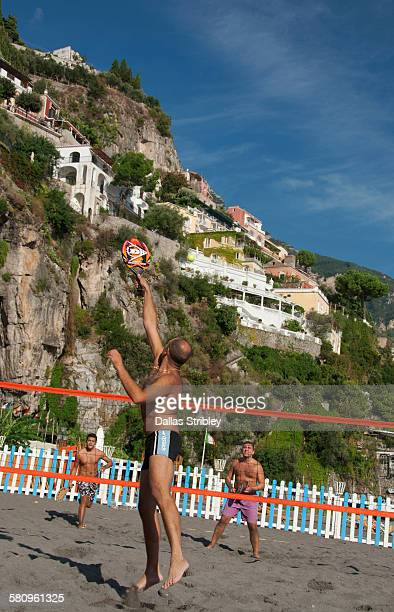 Raquet-ball on Spiaggia Grande in Positano