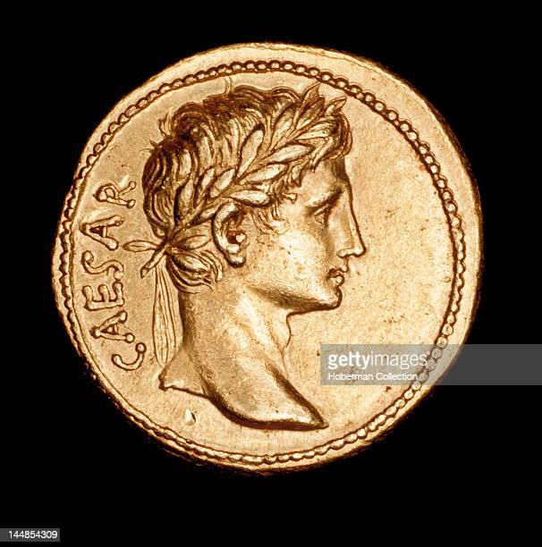 Rare Ancient Roman Coin aureus Augustus Caesar c 27 BC