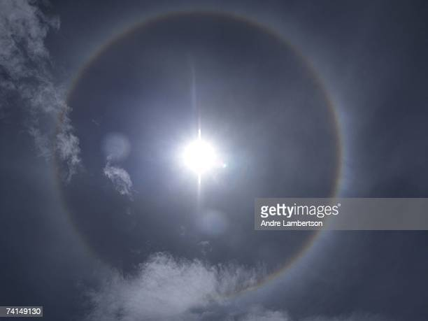 Rare and auspicious circular rainbow appears over the home of Khandroma Kunzang Wangmo, a female lama who live in a remote region of the Himalayan...