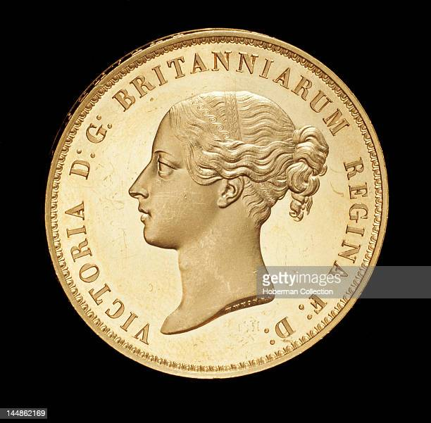 Rare Coin, Britain Gold 5 Pounds, Young Queen Victoria Head, 1839