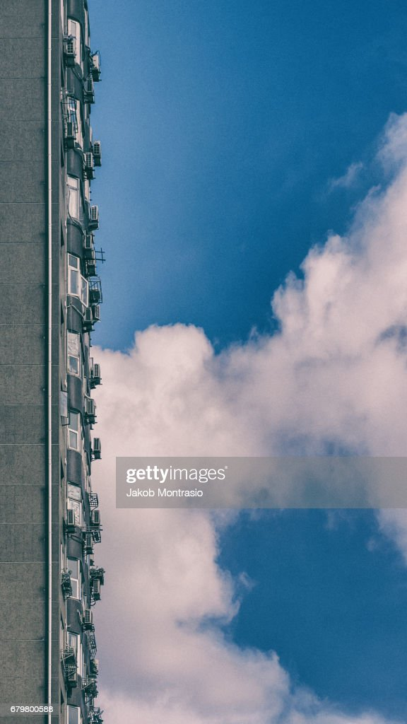A rare day in Shanghai without smog : Stock Photo