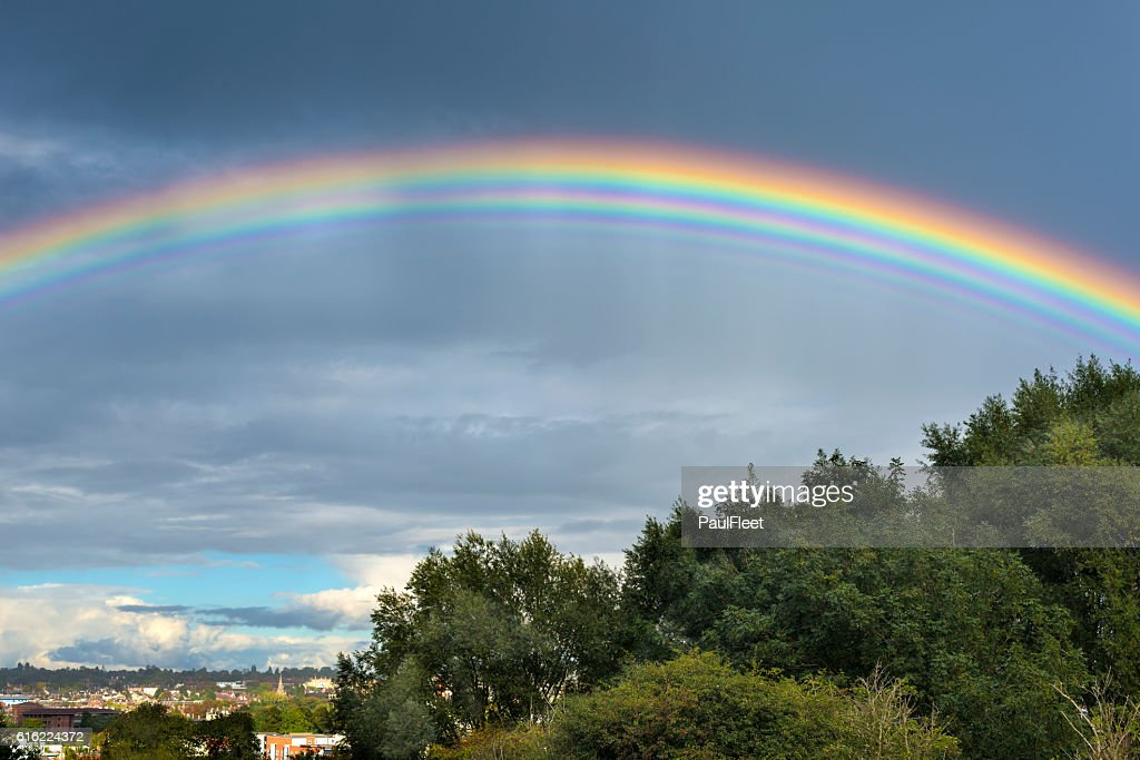 Rare Multiple Rainbow : Stock Photo