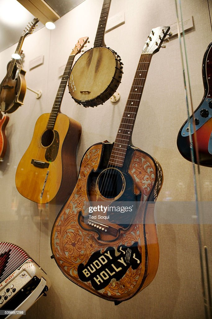 Rare musical artifacts on display  A guitar owned and played