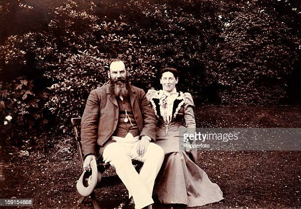A rare photograph of the Gloucestershire and England cricketer Dr WG Grace with his wife Agnes circa 1900 The exact location of this photograph is...
