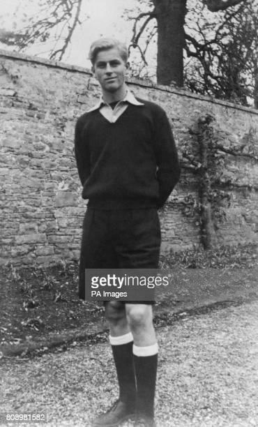 A rare picture of Prince Philip of Greece at the public school of Gordonstoun Elgin Scotland