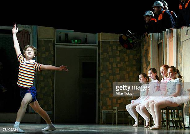 Rarmian Newton playing the character of Billy Elliot rehearses a scene from the Australian production of Billy Elliot The Musical during a photo call...