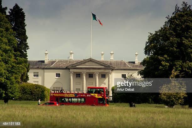 Áras an Uachtaráin residence of the Ireland president in Dublin