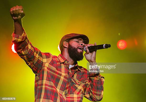 Ras Puma of Thievery Corporation performs on stage during Day 3 of Squamish Valley Music Festival on August 10, 2014 in Squamish, Canada.