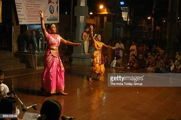 Rasa Arangam Dance Festival at the Kapaleeswara Temple Mylapore in Chennai Tamil Nadu India