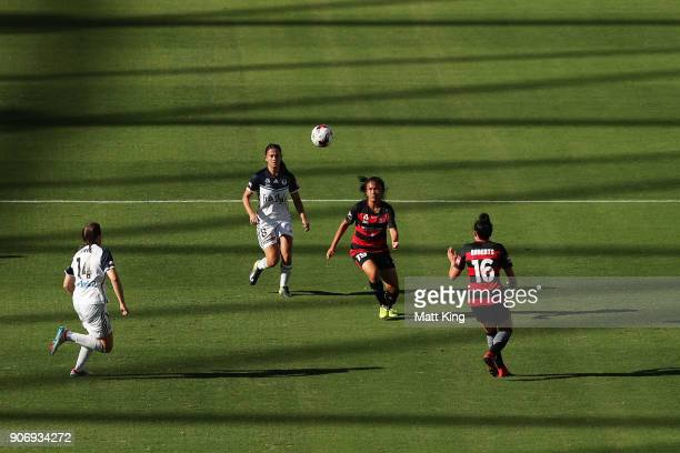 Rasamee Phonsongkham of the Wanderers controls the ball during the round 12 WLeague match between the Western Sydney Wanderers and the Melbourne...