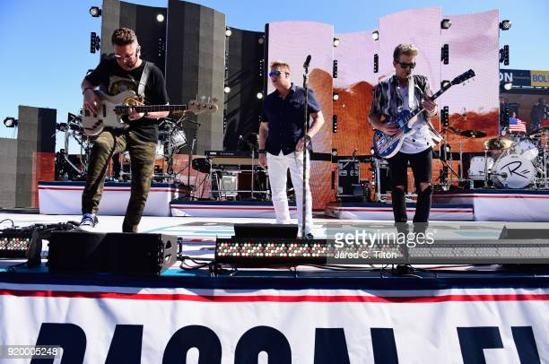 Rascal Flats performs during pre race festivities prior to the start of the Monster Energy NASCAR Cup Series 60th Annual Daytona 500 at Daytona...