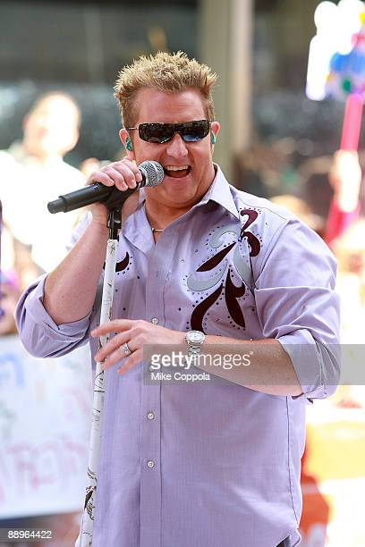 Rascal Flatts lead singer Gary LeVox performs on NBC's Today at Rockefeller Center on July 10 2009 in New York City