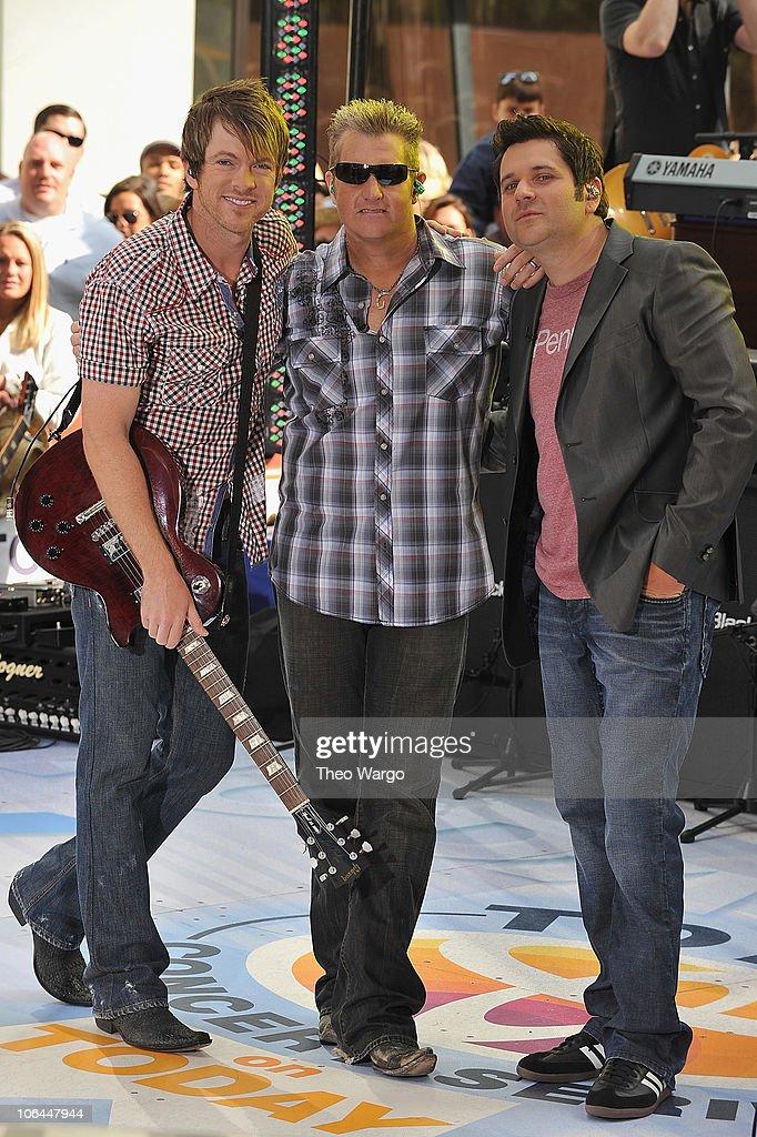 Rascal Flatts perform on NBC's 'Today' in Rockefeller Center on June 11, 2010 in New York City.
