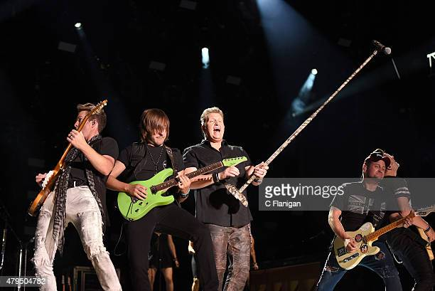 Rascal Flatts performs at LP Field during the 2015 CMA Festival on June 11 2015 in Nashville Tennessee