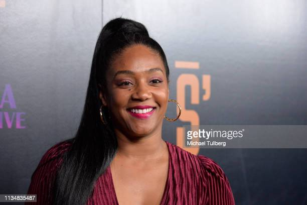 Rashaad Dunn attends the grand opening of Shaquille's At LA Live at LA Live on March 09 2019 in Los Angeles California