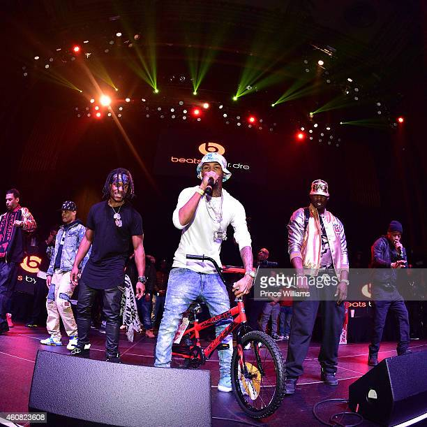 Rashaad, Young Booke, Dro and Spodie perform at the 5th annual Street execs christmas Party at The Tabernacle on December 22, 2014 in Atlanta,...