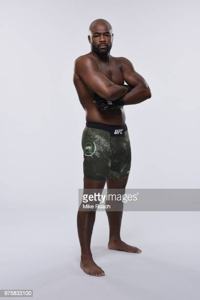 Rashad Evans poses for a portrait during a UFC photo session on June 6 2018 in Chicago Illinois