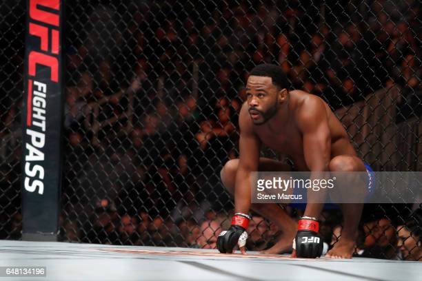 Rashad Evans waits for the start of his middleweight fight against Daniel Kelly of Australia during UFC 209 at TMobile Arena on March 4 2017 in Las...