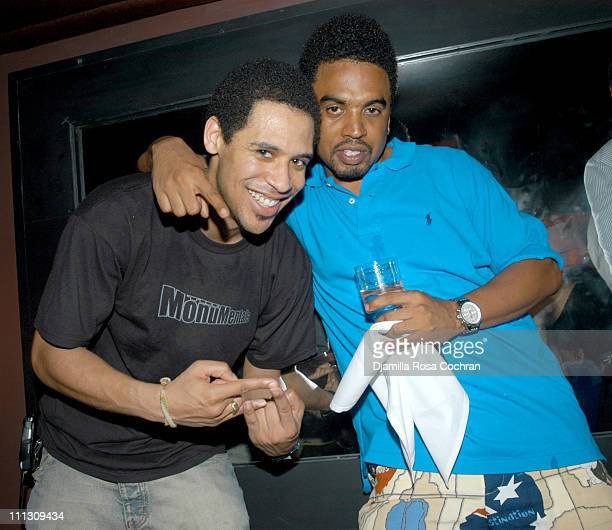 Rashad Haughton and Damon DeGraff during DJ Cassidy's Birthday Party at Hue in New York City New York United States